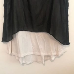 Gibson Latimer Tops - White tank with black sheer covering